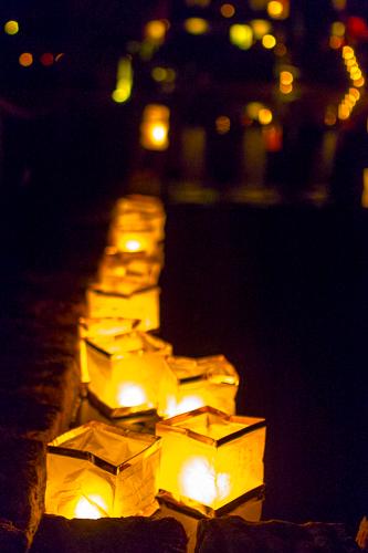 hochzeitsfeier in tangerhütte - brennende kerzen